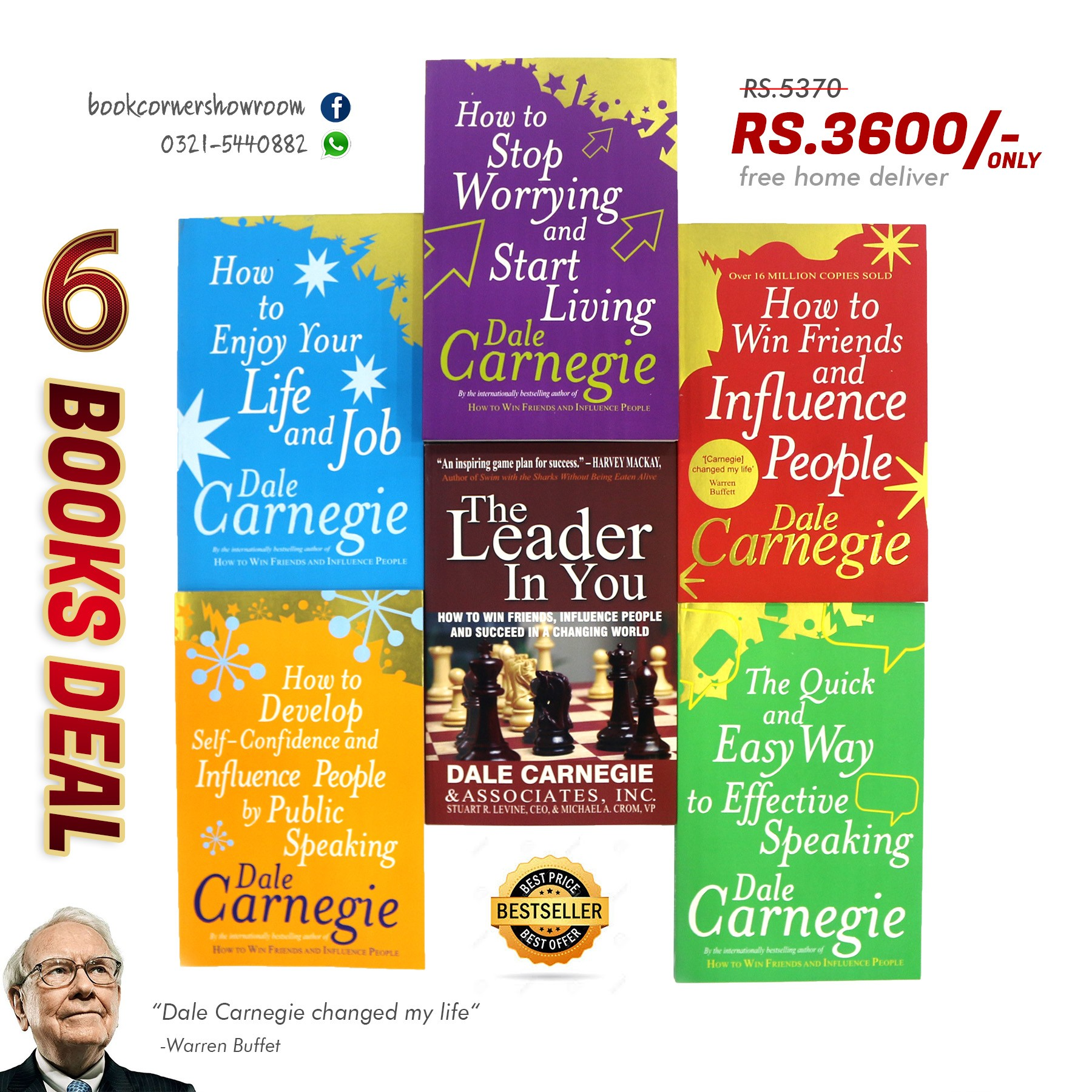 HOW TO ENJOY YOUR LIFE WITH DALE CARNEGIE - 6 BOOKS PACK